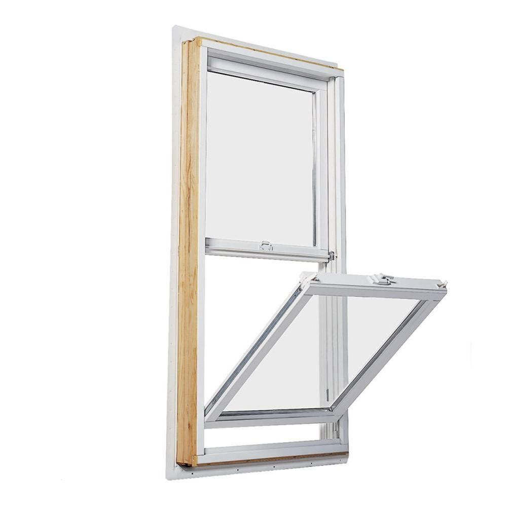 Andersen 27 5 In X 35 5 In 200 Series Double Hung Wood Window With White Exterior Dh2430 The Home Depot In 2020 Wood Windows Double Hung Double Hung Windows