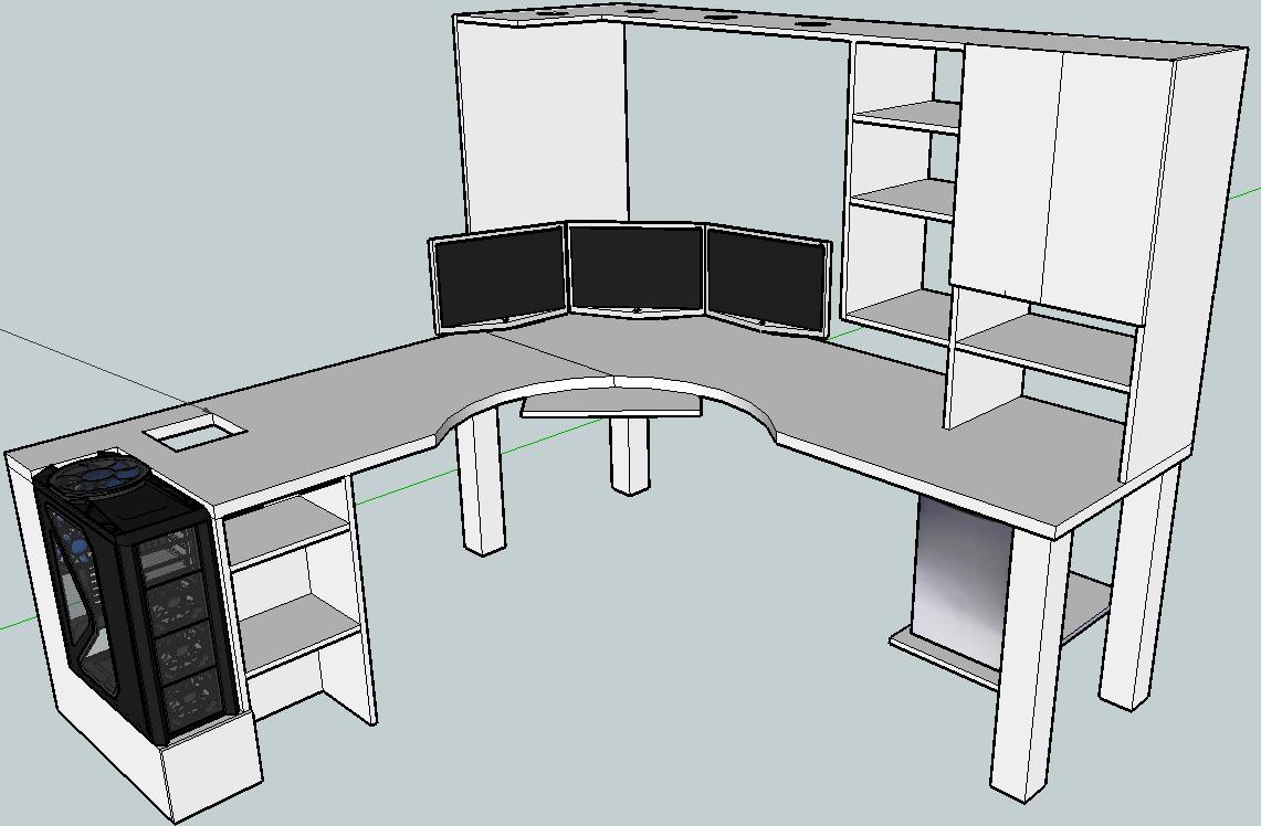 Blkfxx S Computer Desk Build Computer Desk Plans Diy Computer