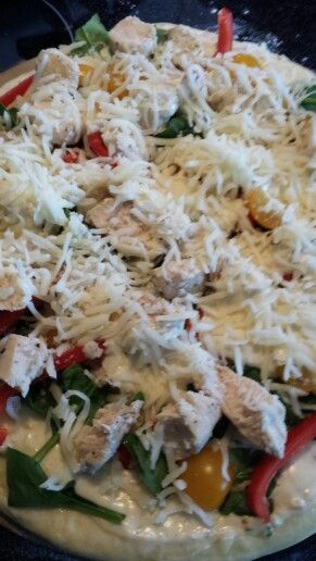 The neelys chicken alfredo pizza from the food network its the the neelys chicken alfredo pizza from the food network its the best ever forumfinder Gallery