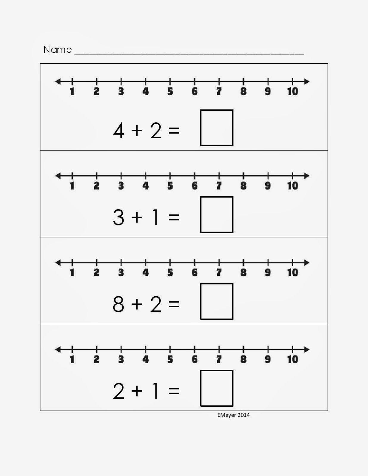 Addition And Subtraction On A Number Line Kelpies Numbers Kindergarten Kindergarten Math Worksheets Addition Addition Worksheets Adding number line worksheet