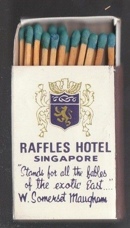 Matches From Singapore S Raffles Hotel 6 Singapore Travel Raffle Matchbook