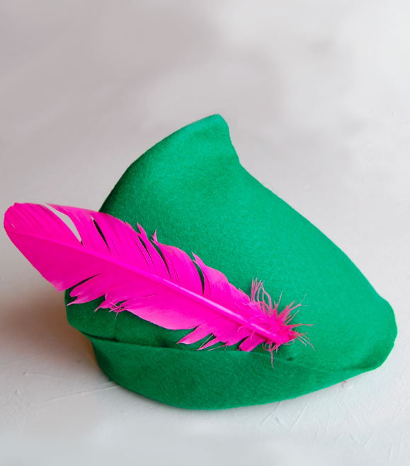 peter pan hat DIY. I needed mine bigger than the printable pattern ...