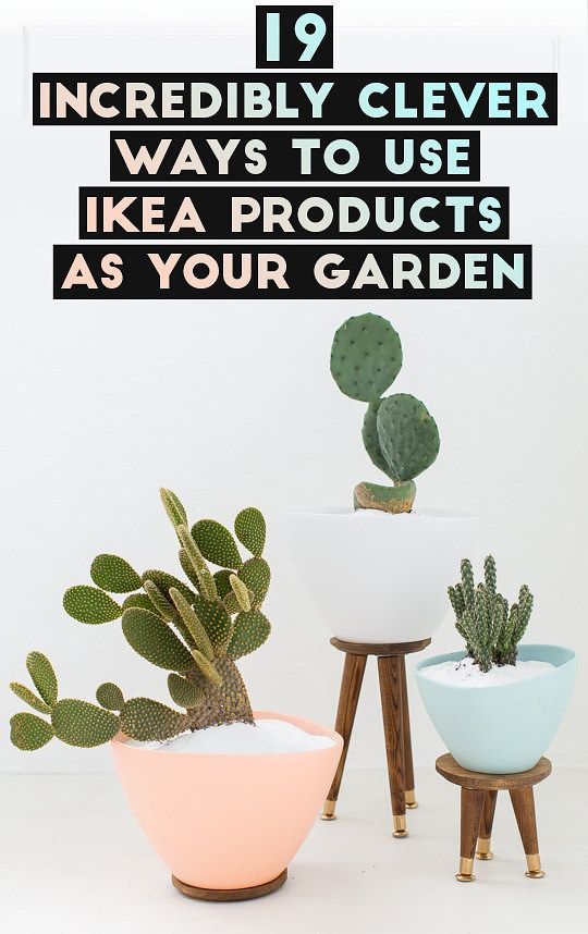19 genius ways to use ikea products as your garden diy pinterest ikea products clever and. Black Bedroom Furniture Sets. Home Design Ideas