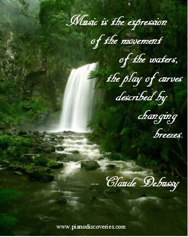 Claude Debussy Music Quote Musical Medicine In 2019 Waterfall