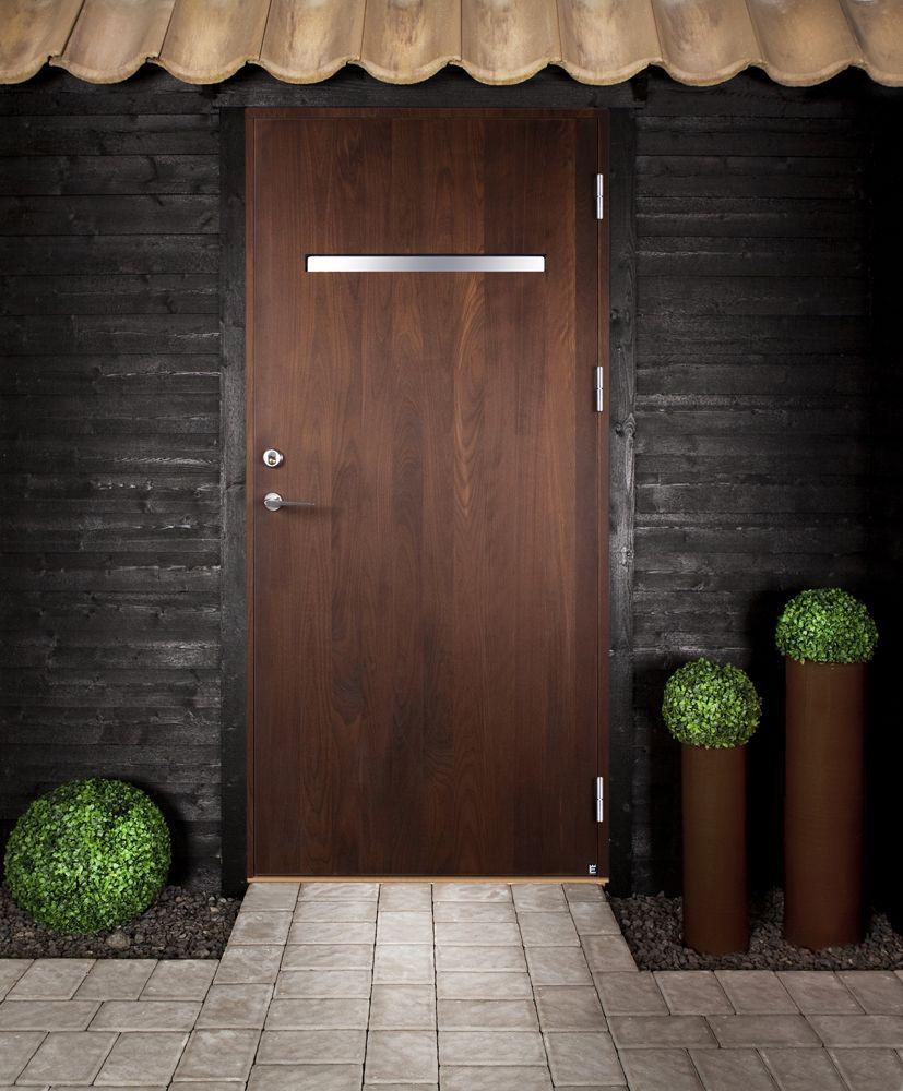 Ekstrands ytterdörr Ratio 101 G21 i ädelbok #Ekstrands #dörrar ...