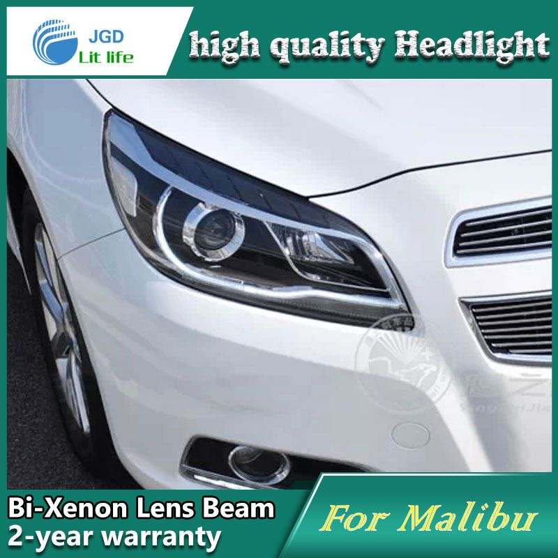 High Quality Car Styling Case For Chevrolet Malibu 2013 Headlights Led Headlight Drl Lens Double Beam Hid Xenon Car Chevrolet Malibu Car Accessories Headlights