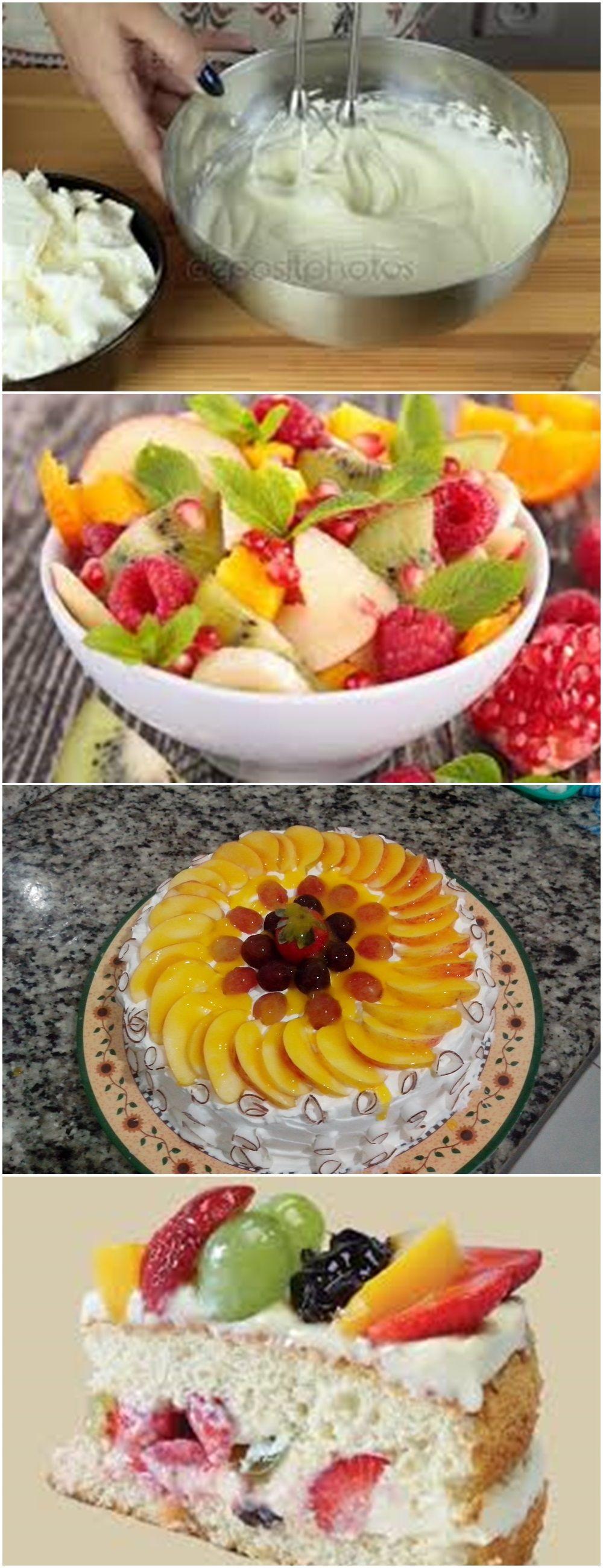 Torta Tropical Receitas De Bolo De Frutas Bolo De Frutas