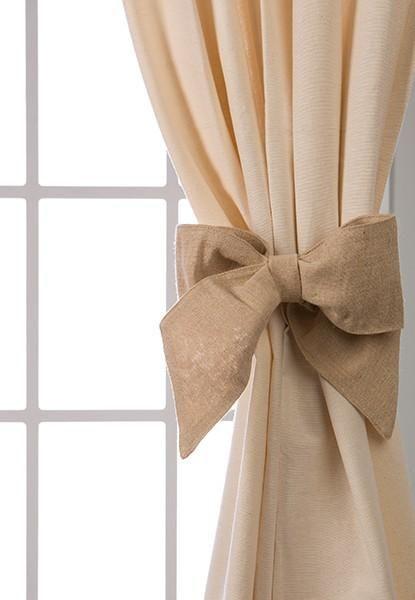 embrasse noeud magn tique jolies embrasses de rideaux d coration monogramme embrasse lin. Black Bedroom Furniture Sets. Home Design Ideas