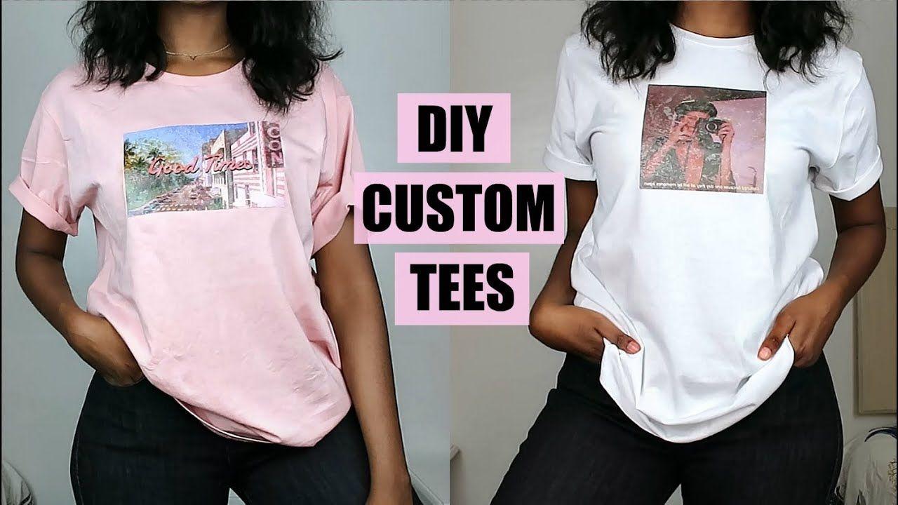 risposta Tentazione Raggiungere  DIY Custom Print T-Shirts | NO Transfer Paper! - YouTube | Custom shirts  diy, Diy t shirt printing, Diy shirt
