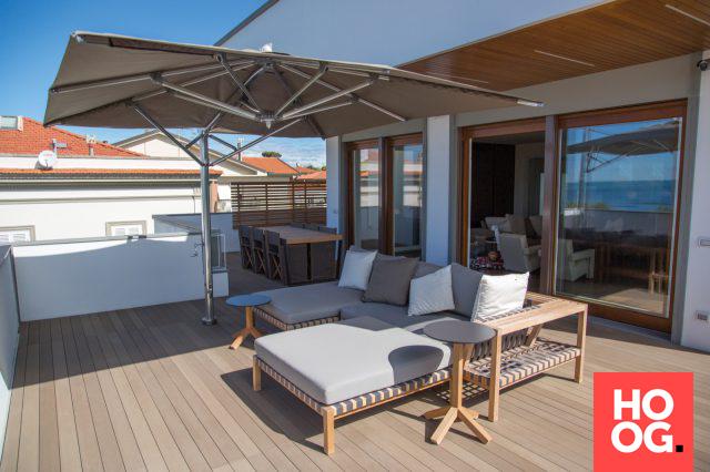 Luxe dakterras met lounge meubels veranda ideas outdoor