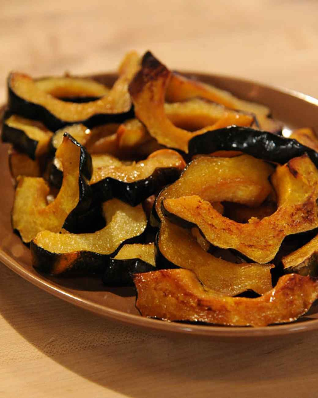 Vanilla And Cardamom Glazed Acorn Squash Rings Recipe With