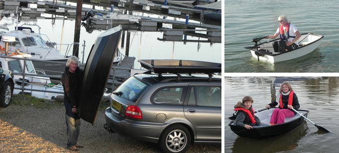 BoatPack   The Portable Boat That Transforms In Car Roof Storage Box   On  Water And