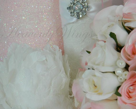 Soft Pink and White Greeting Cards Set of Four by HeavenlyWings, $10.00