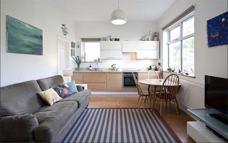 Küche, Offene küche kleines wohnzimmer .   Stylish living ...