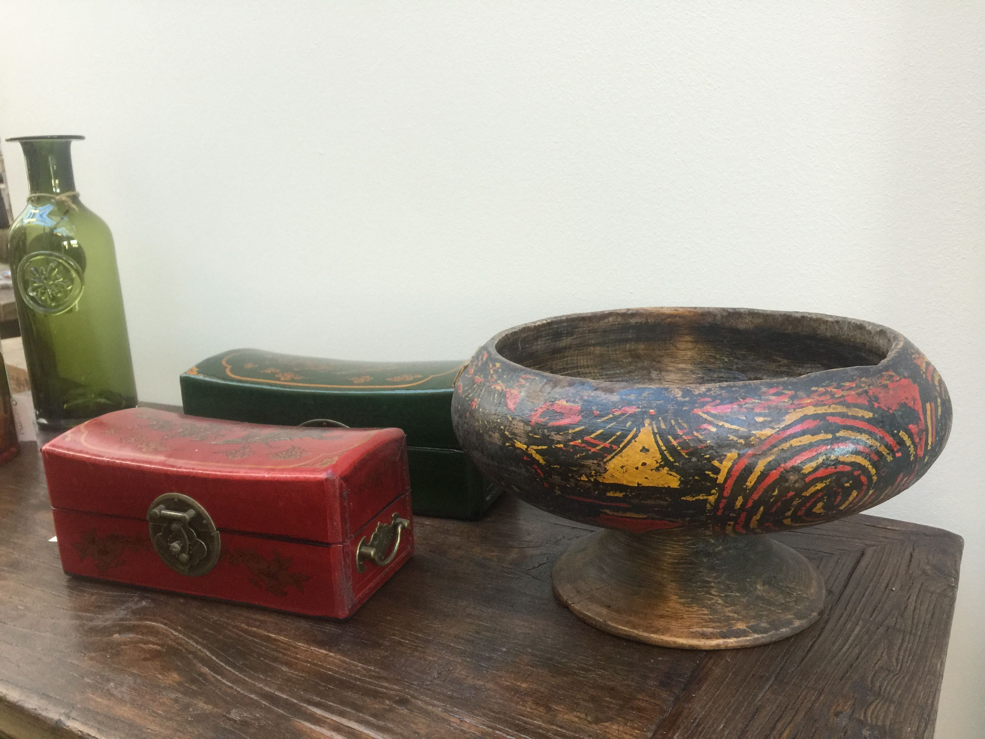 Chinese pillow boxes and antique bowl 明清家具 pinterest