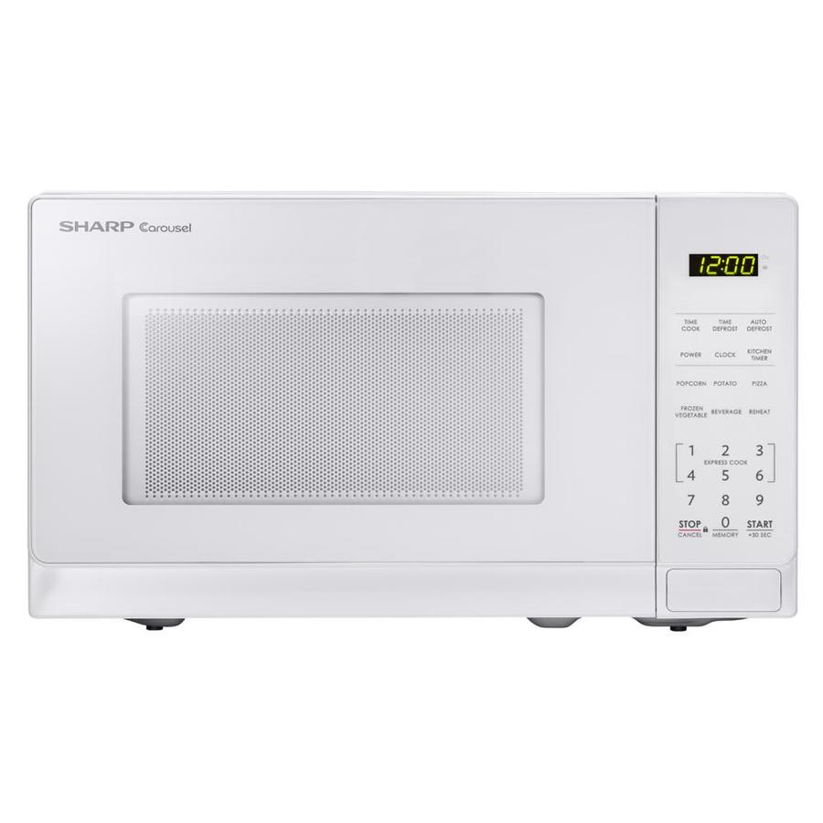 Sharp 0 7 Cu Ft 700 Watt Countertop Microwave White At Lowes Com Countertop Microwave Microwave Countertops