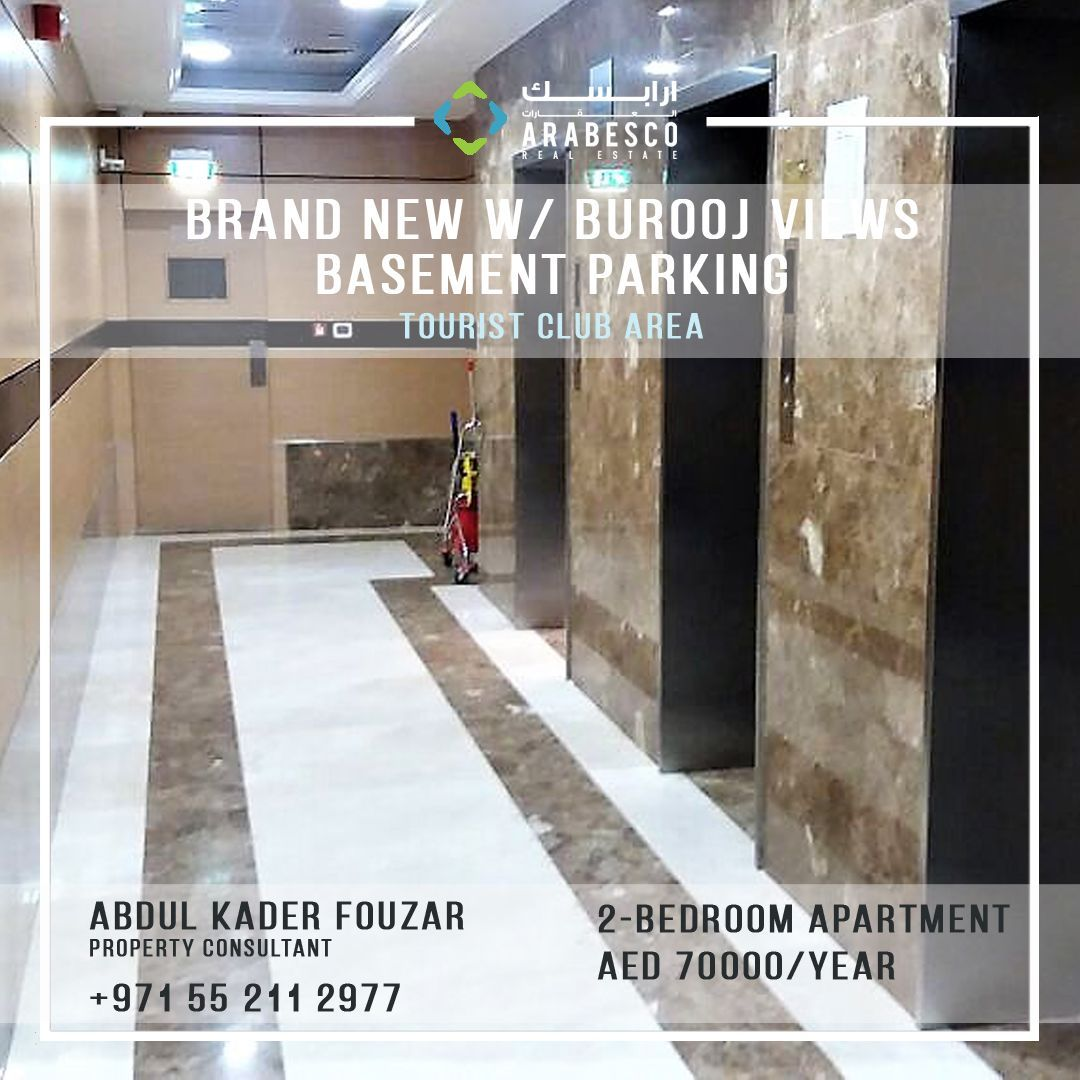 Brand New 2 BHK Apartment With Burooj Views For Rent! Only