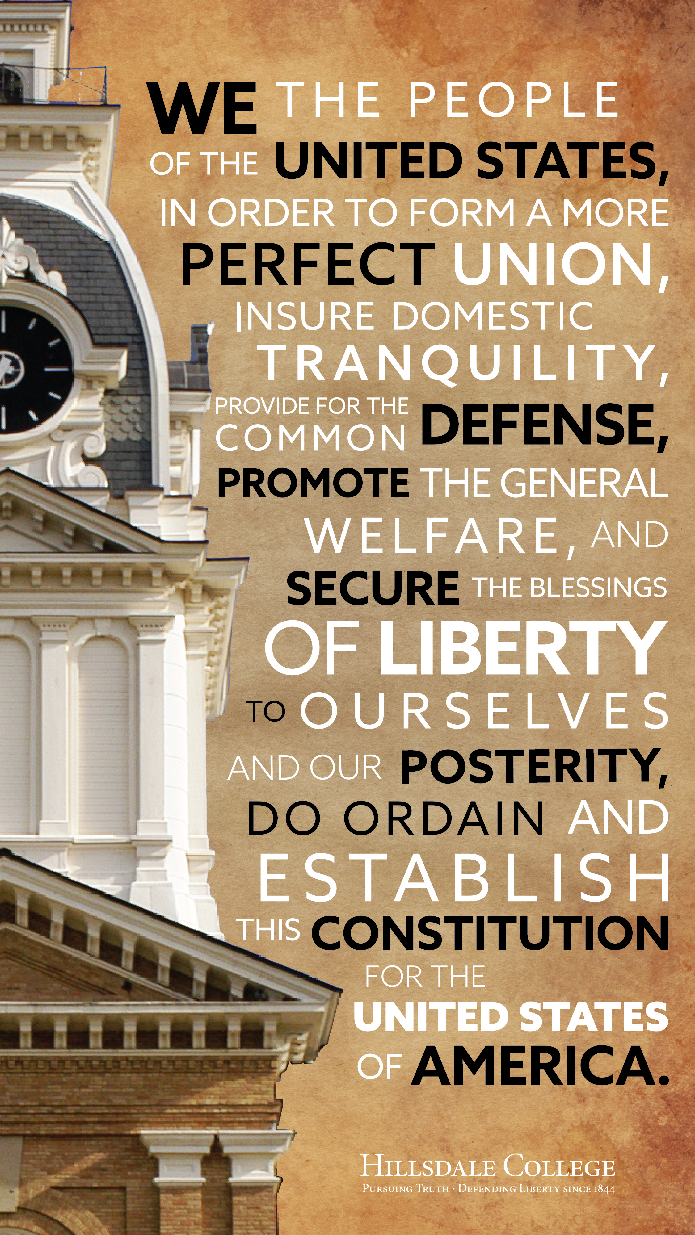Mobile Phone Constitution Day Background With Hillsdale College