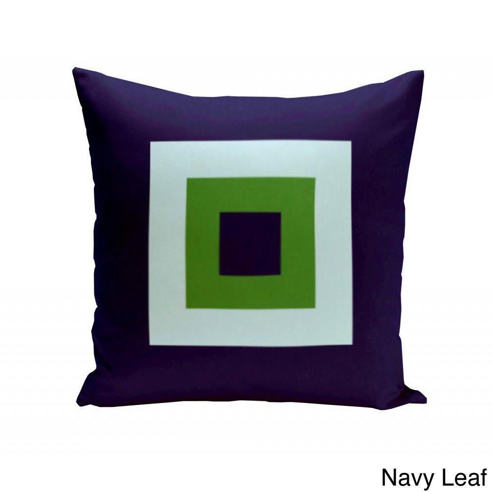 E by design x inch geometric squares decorative throw pillow