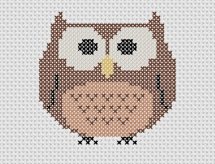 Owl Cross Stitch Chart With Images Cross Stitch Owl Cross Stitch Owl Cross Stitch