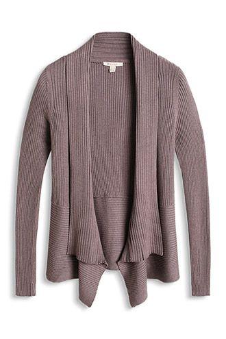 2a0f8dc3b117b0 Esprit / soft ribbed cardigan | Knits | Sweaters, Long sleeve tops ...