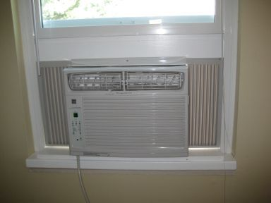 Ac Install In Vinyl Window Build Platform 2 X 4 On