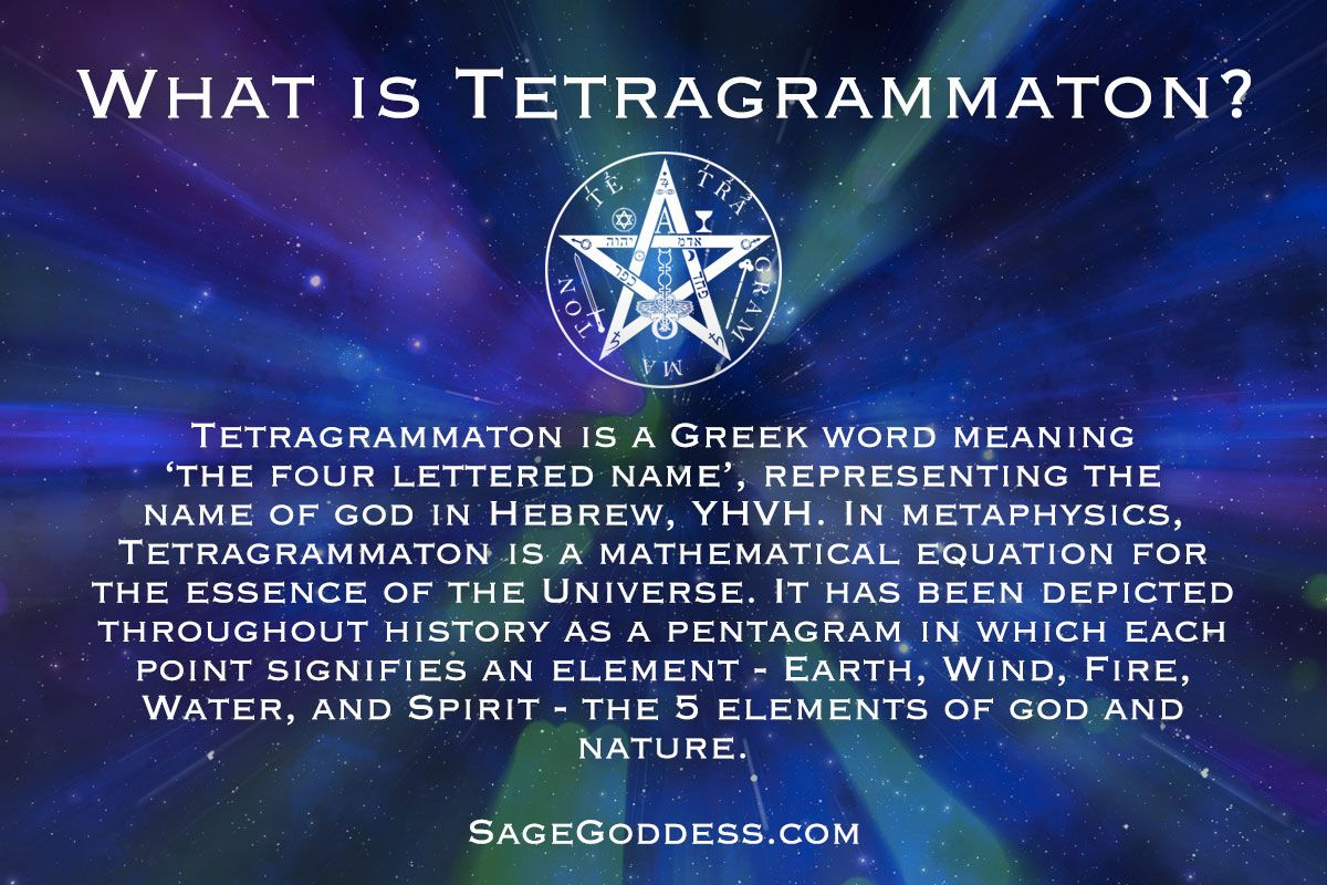 The History Of Tetragrammaton Is Mysterious And Long It Was A