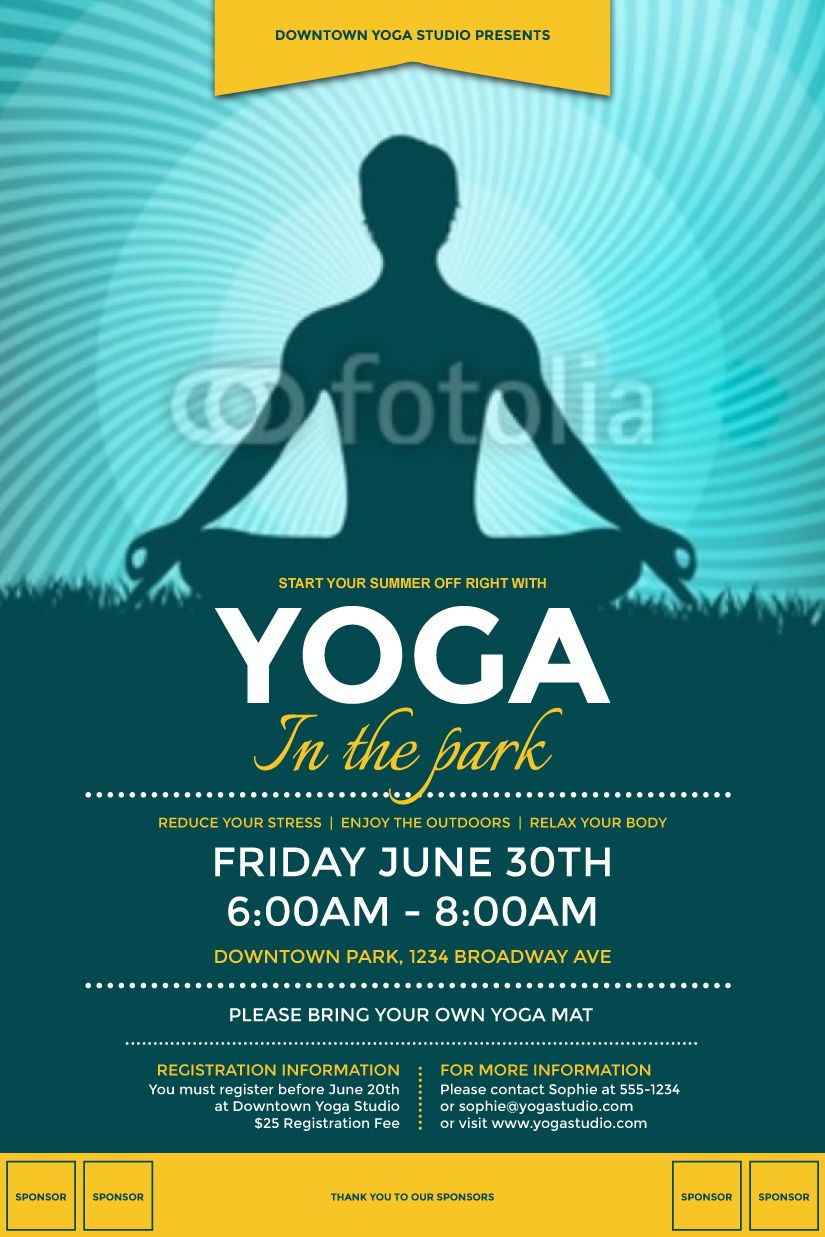 Yoga Flyer  Design Inspiration    Yoga Design Posters
