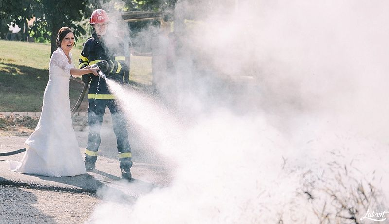 For fire extinguishers – call the bride!  Wedding on fire in Istria (Croatia)