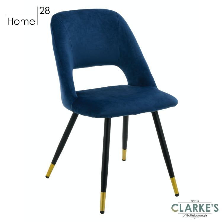 Bursa velvet dining chair navy free nationwide delivery