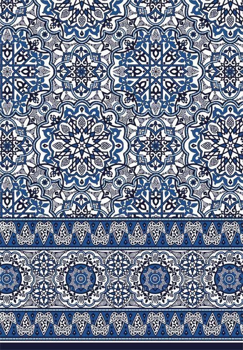 Moroccan Tile Border Print I Sophia Baker