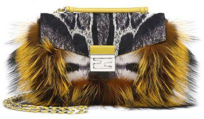 3fda2d0ff53c fendi be baguette fur and leopard print calf hair bag