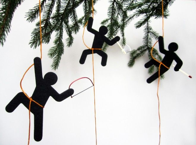 Trouble-Making Christmas Tree Ornaments