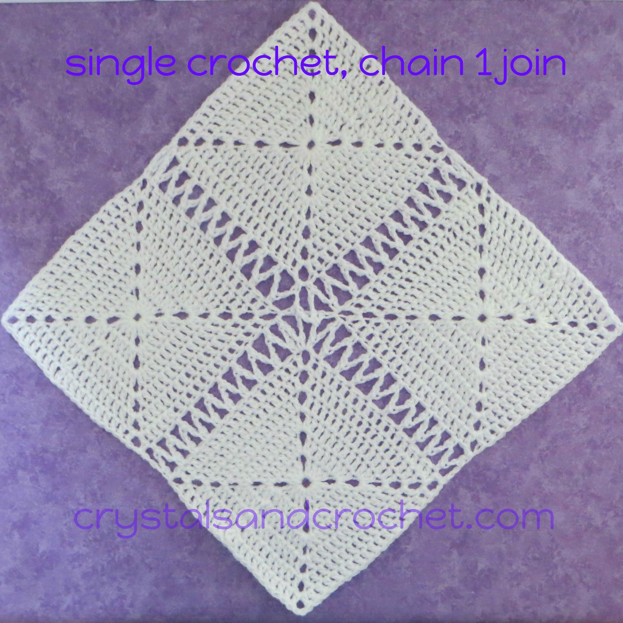 Single Crochet and Chain Join This is one of my favourite joining ...