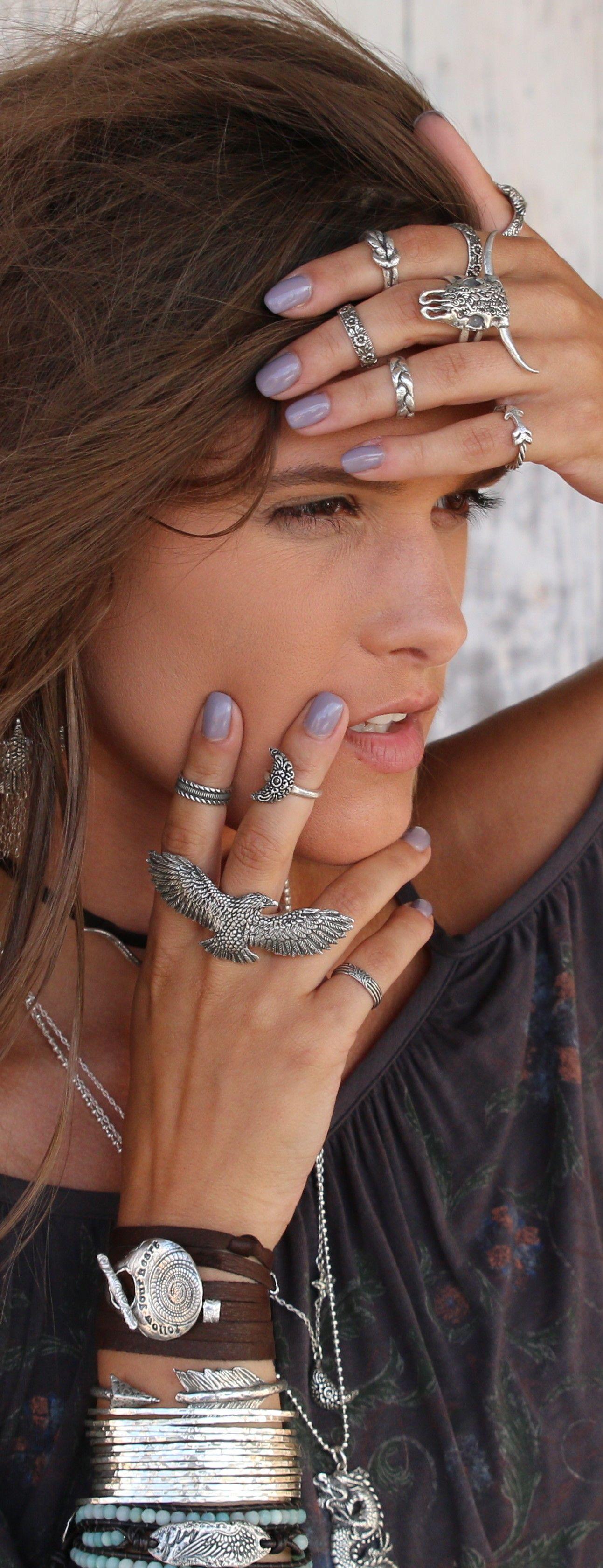 Boho Jewelry Boho Ring Silver Boho Ring Boho Silver Rings Etsy Boho Jewelry Boho Rings Silver Multi Finger Rings