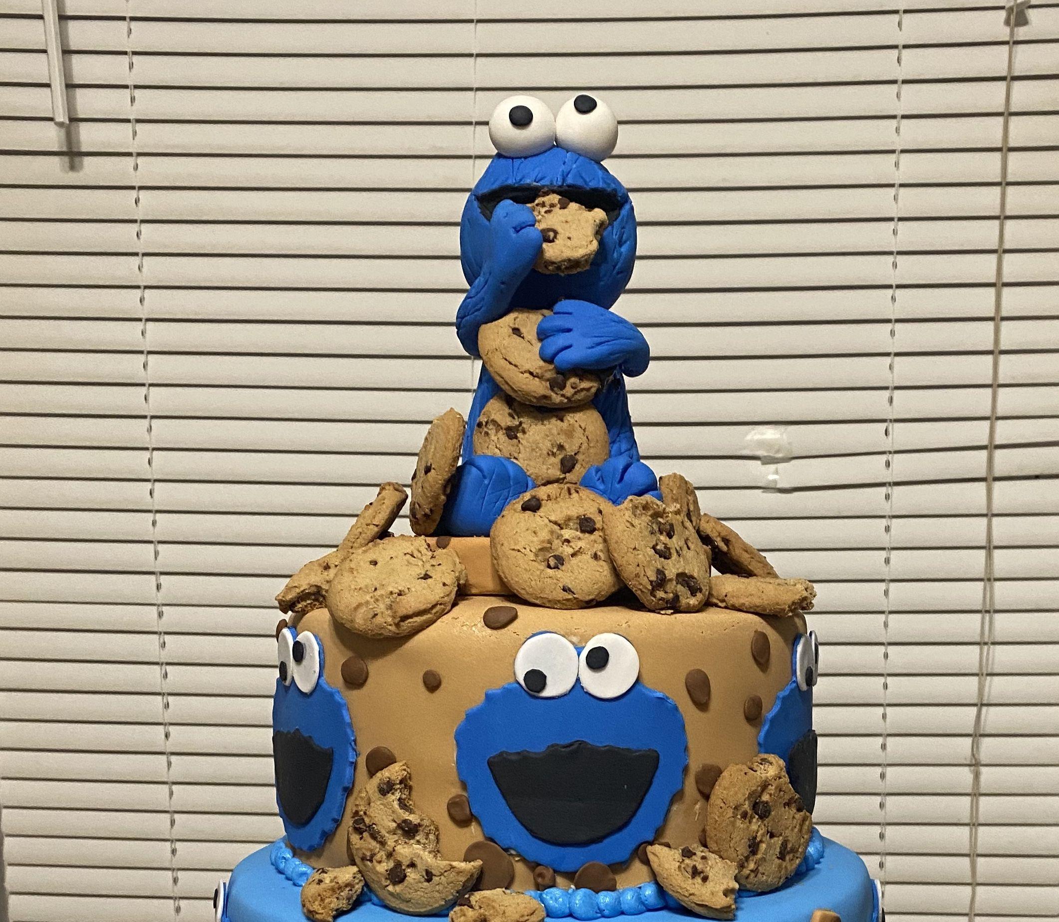 Cookie monster topper in 2020 monster cookies sesame