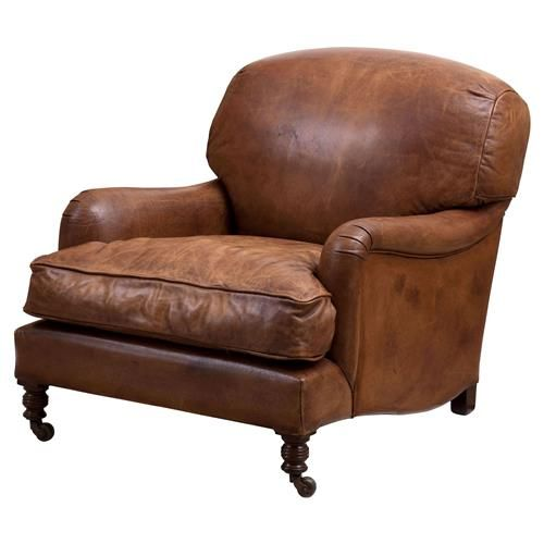 Eichholtz Highbury Modern Classic Brown Leather