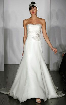 Amsale 'Cecily' wedding dress...for when I never get married. Oh, and the giant flower has to go.