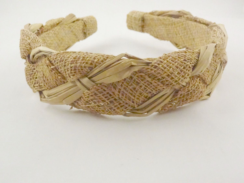 Rustic Vintage Headband, woven braided, burlap, rope.. $18.00, via Etsy.