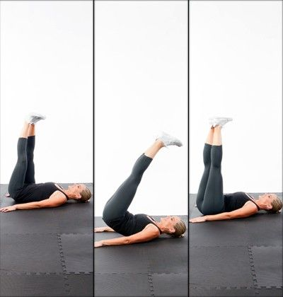 5minutes to a flat stomach triangle hip press  repinned