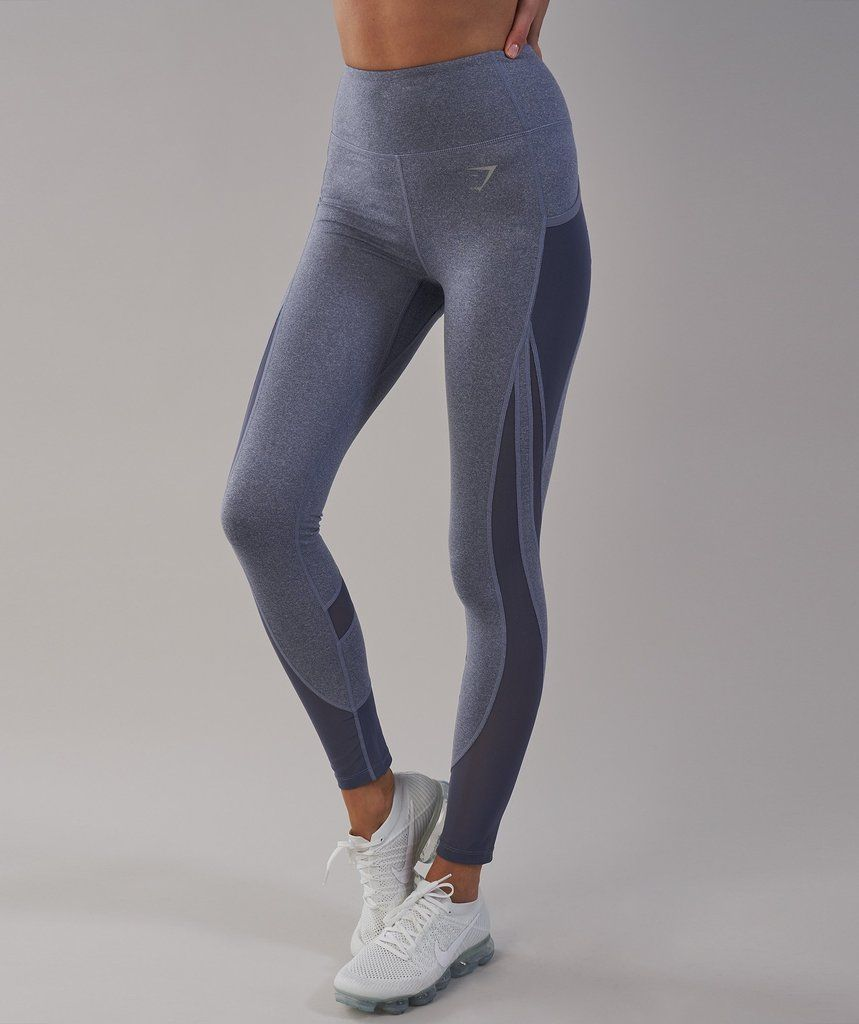 f9657460f07ca Gymshark Sleek Sculpture Leggings 2.0 - Steel Blue Marl 2 | Workout ...
