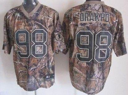 Nike Washington Redskins  98 Brian Orakpo Realtree Camo Elite Jersey ... a57c42327