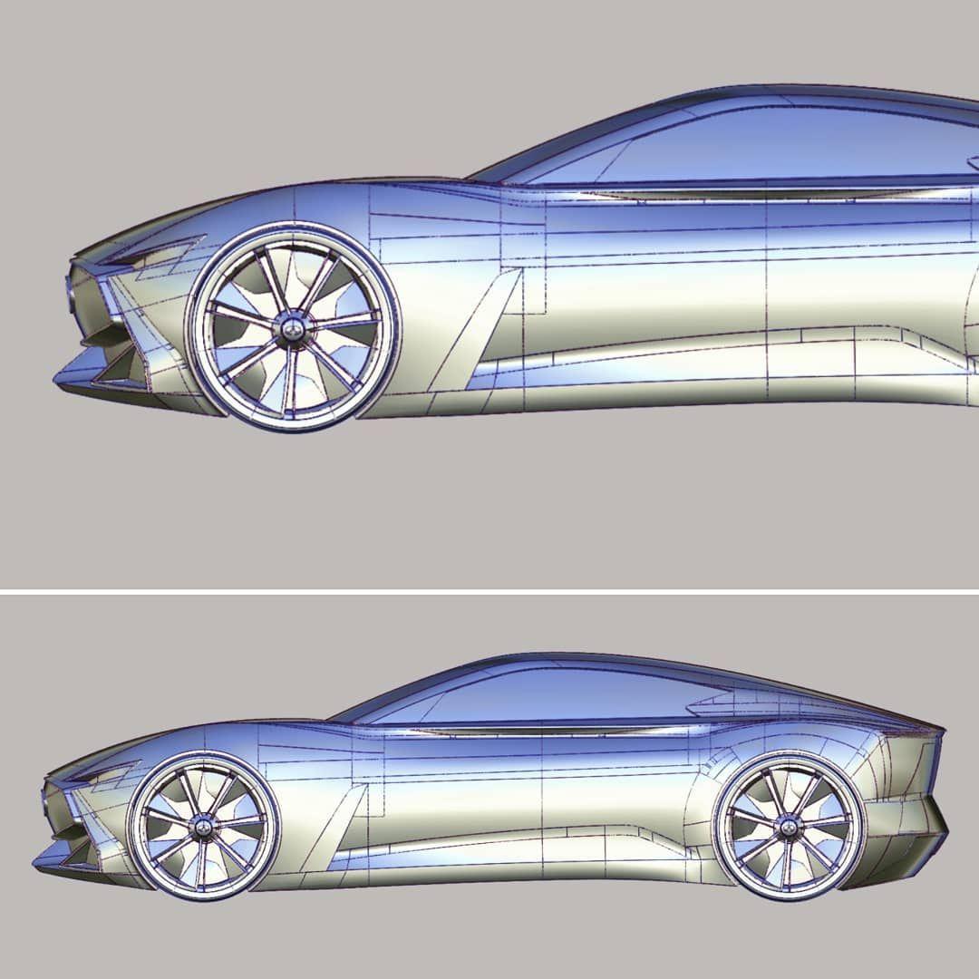 My Concept Car Modeling In Alias Modeling Alias Sketching Car Cardesign Cardesigner Auto Automotive Auto Car Model Concept Car Design Concept Cars