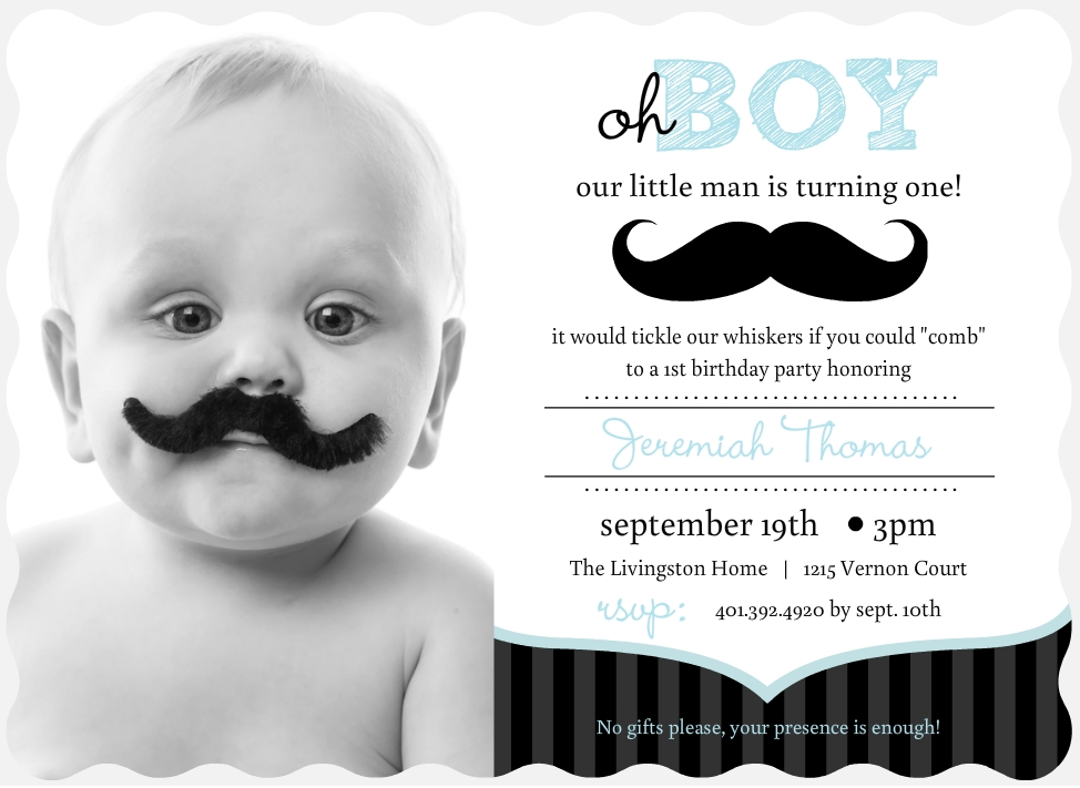 Mustache First Birthday Invitations Choice Image - coloring pages adult