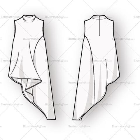 Alle Der Neuen Damen, Ärmellose Bluse, flache Mode-Vorlage #armellose #bluse #damen #flache #vorlage #designofblouse