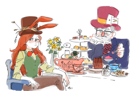 Hatter Stan and Wendy Hare? XD Mabel in Wonderland