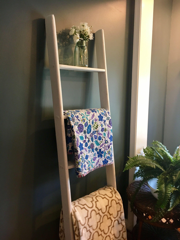 Baby blanket rack quilt rack white blanket ladder