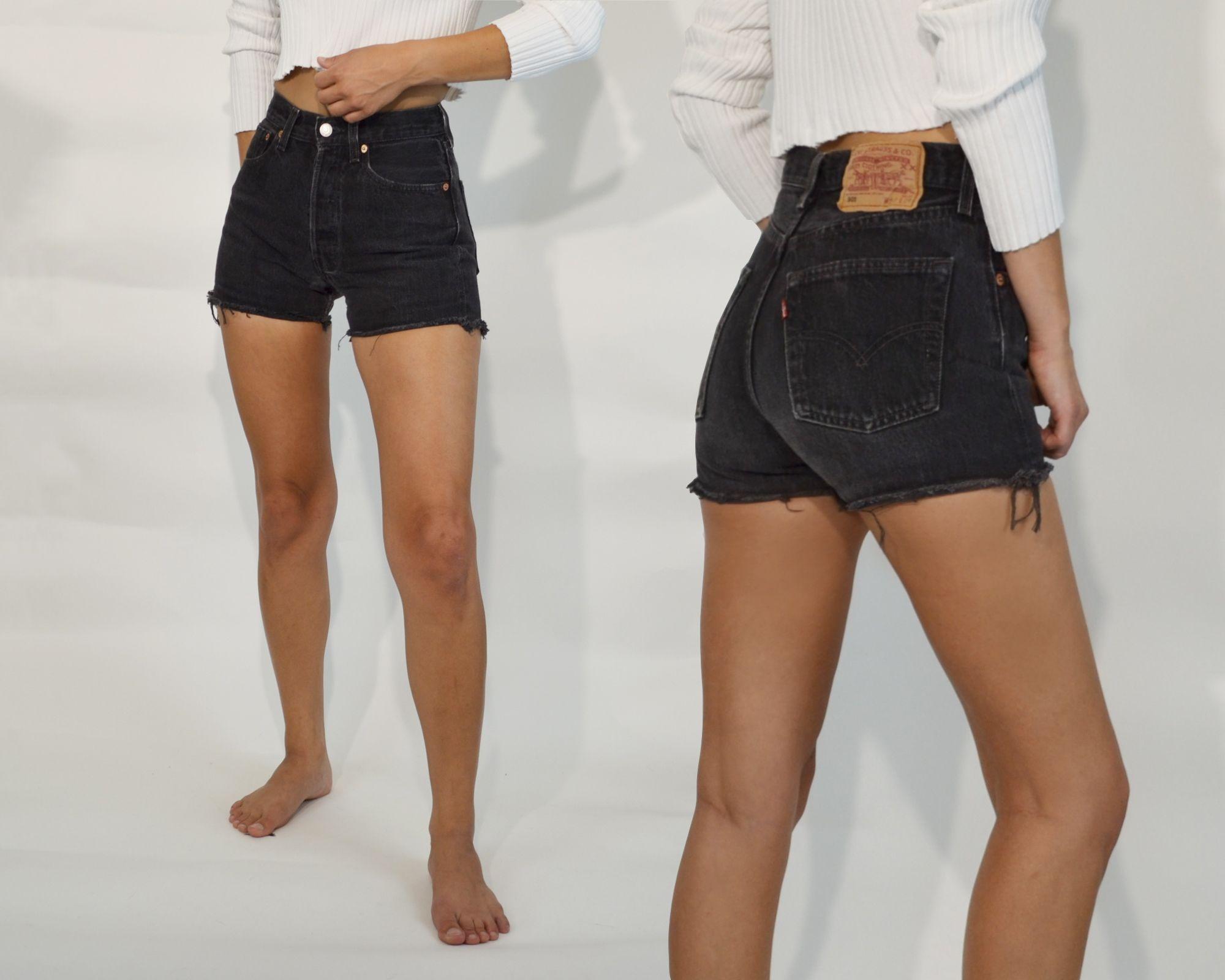Vintage Levi S 501 Shorts Levi 501 Shorts Black Shorts Outfit Black Denim Shorts Outfit