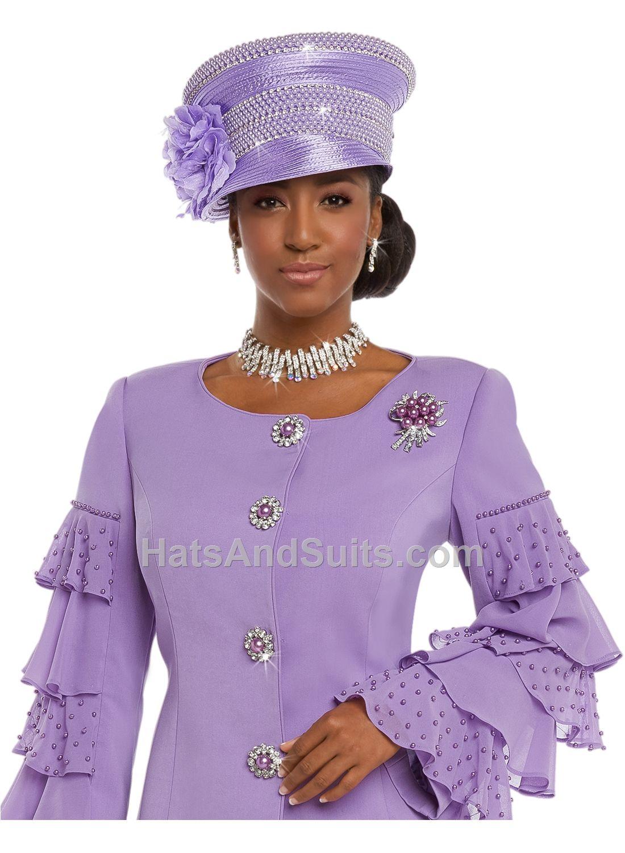 Donna Vinci Couture Church HATS H11627 Spring   Summer 2018 ... 411715037a2