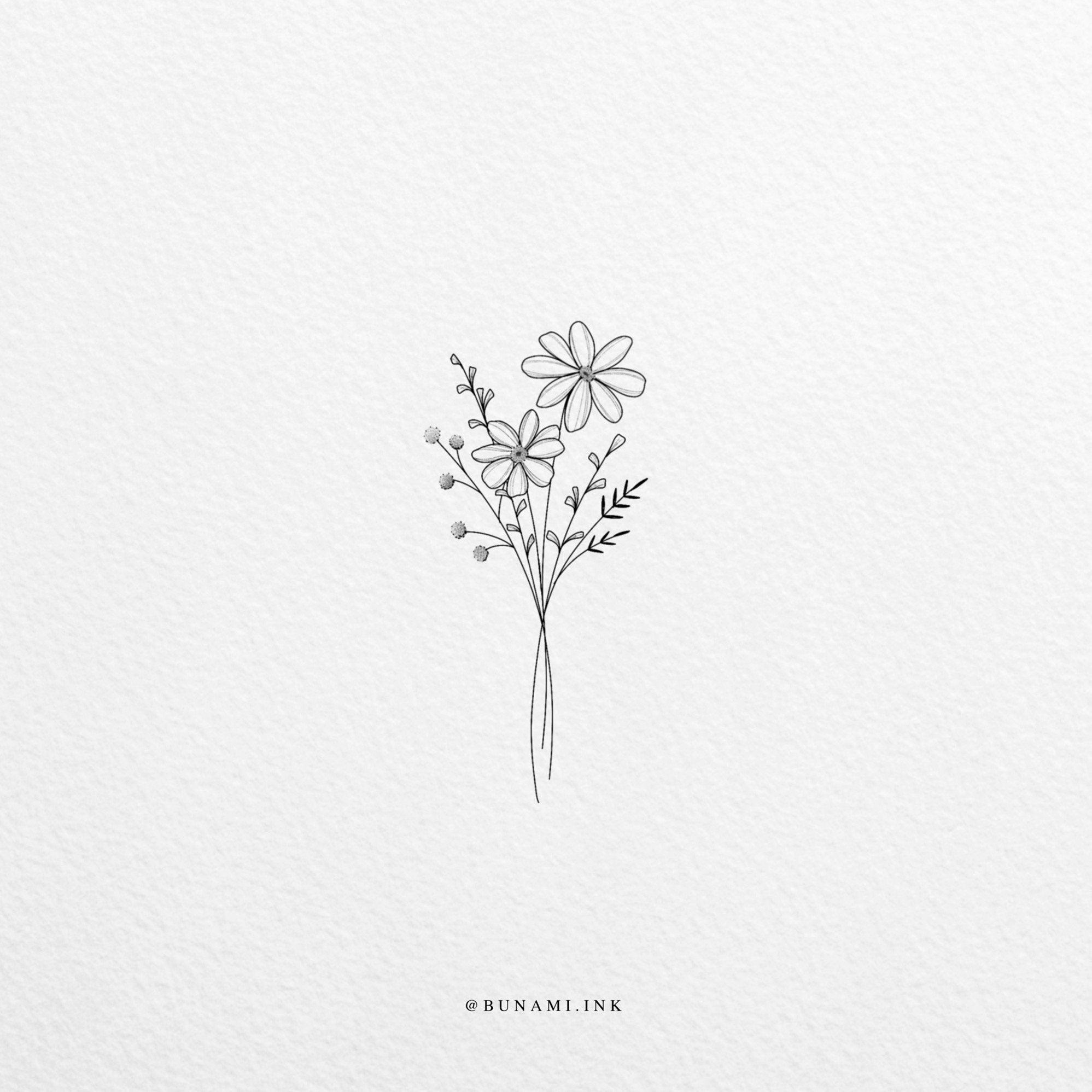 Photo of Tiny wild bouquet (sold) – BUNAMI INK